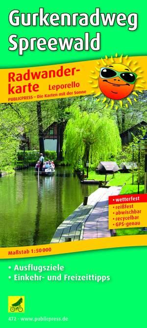 Gurkenradweg Spreewald fietskaart