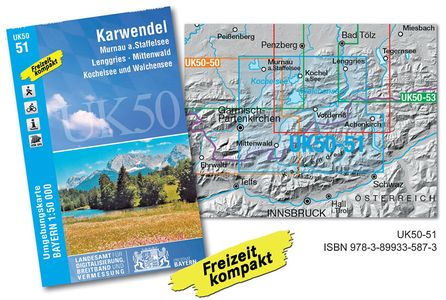 Karwendelgebirge (uk 50-51) 1:50.000