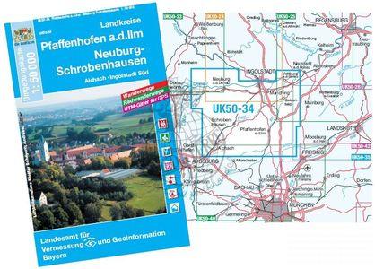 Pfaffenhofen A.d. Ilm1:50.000 Fzk Uk50-34