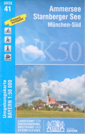 Ammersee Starnbergersee 1:50.000 (uk50-41)