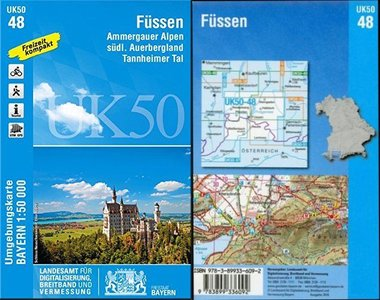 Fussen 1:50.000 Lva Bayern Uk50-48