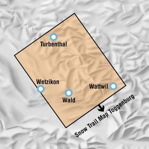 Snowtrailmap 10 Zurcher Oberl. 1:50.000