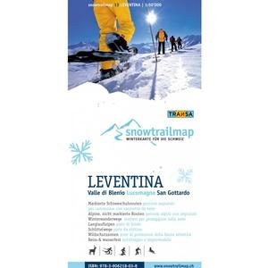 Snowtrailmap 13 Leventina 1:50.000