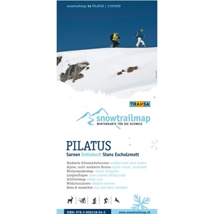 Snowtrailmap 14 Pilatus 1:50.000