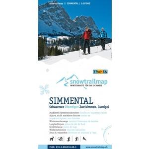 Snowtrailmap 22 Simmental 1:50.000
