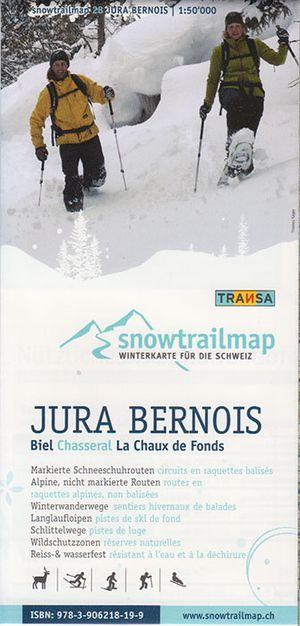 Snowtrail Map 28 Jura Bernois 1:50.000