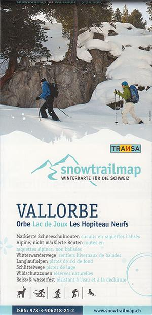 Snowtrail Map 30 Vallorbe / Jura 1:50.000