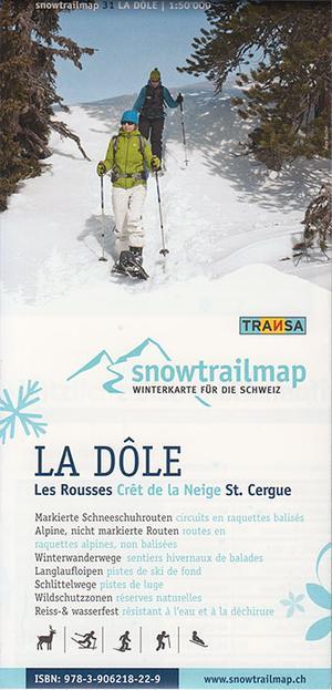 Snowtrail Map 31 La Dole / Jura 1:50.000