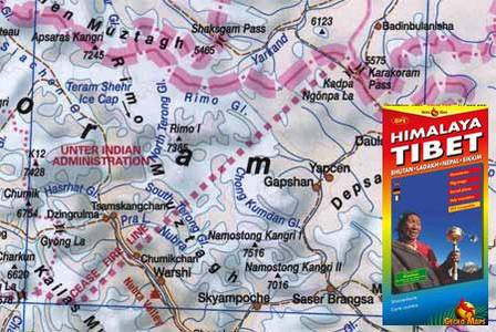 Himalaya-tibet 1:1,6m Gecko Road Map