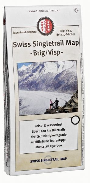 Singletrail Map 34 Brig Visp 1:50.000
