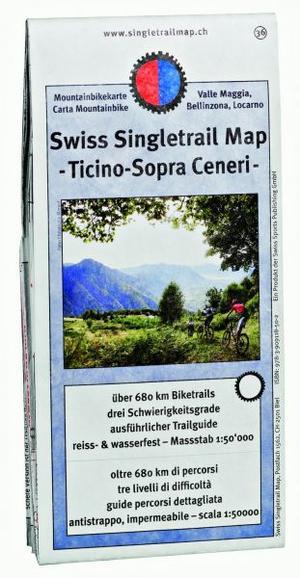 Singletrail Map 36 Ticino 1:50.000