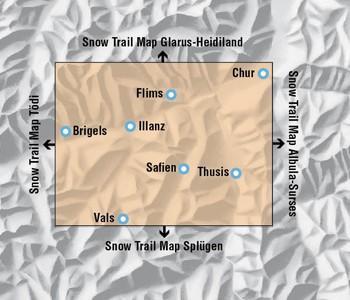 Snowtrail Map 08 Surselva 1:50.000