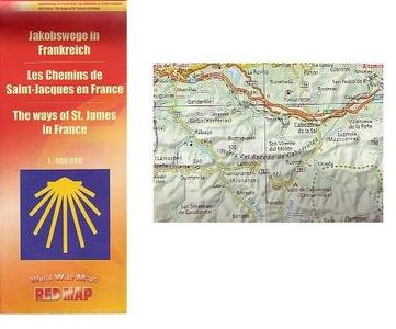 Jakobswege Frankreich Red Map Zentgraf