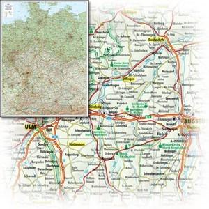 Bacher Strassenkarte Deutschland 1:700d Plano