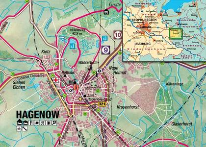 Hagenow Rad + Reitkarte 1:50.000