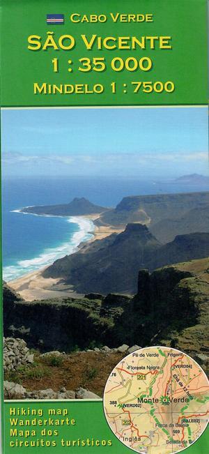 Cabo Verde - Sao Vicente - wandelkaart Kaapverdische eilanden