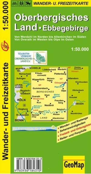 Oberbergisches Land Ebbegebirge 1:50.000
