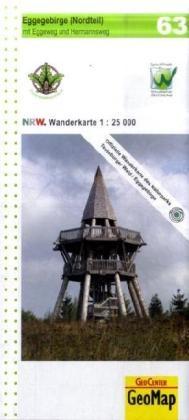 63 Eggegebirge Nord 1:25.000 Geomap Nrw