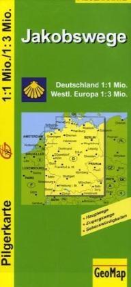 Pilgerkarte Jakobswege Deutschland 1.1m