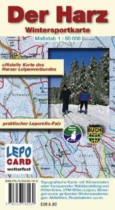 Der Harz 1:50.000 Wintersportkarte
