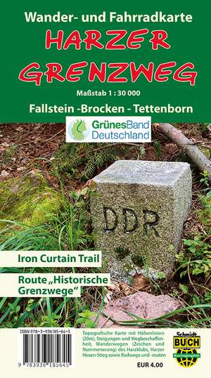 Harzer Grenzweg Wander- und Fahrradkarte
