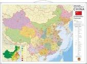 China Postcodekaart 87x137cm Stiefel