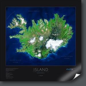 Island 1:900d Satellietkaart Albedo39