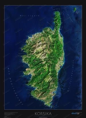 Corsica satellietposter