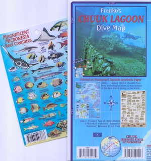 Chuuk Guide Map Franko's Dive Map