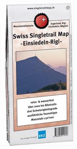 Singletrail Map 7 Einsiedeln Rigi 1:50.000