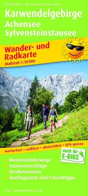 Karwendelgebirge / Achensee / Sylvensteinstausee wandel- & fietskaart