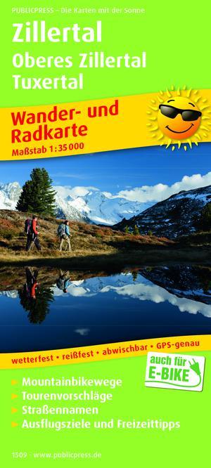 Zillertal / Oberes Zillertal / Tuxertal wandel- & fietskaart