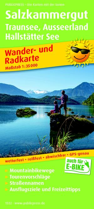Salzkammergut / Traunsee / Ausseerland / Hallstätter See wandel- & fietskaart