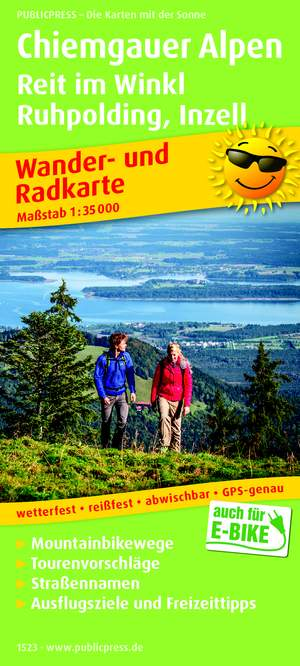 Chiemgauer Alpen / Reit im Winkl / Ruhpolding / Inzell wandel- & fietskaart