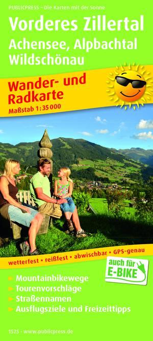Vorderes Zillertal / Achensee / Alpbachtal / Wildschönau wandel- & fietskaart