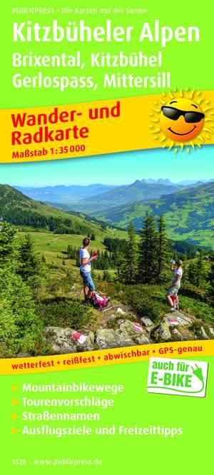 Kitzbüheler Alpen / Brixental / Kitzbühel / Gerlospass / Mittersill wandel- & fietskaart