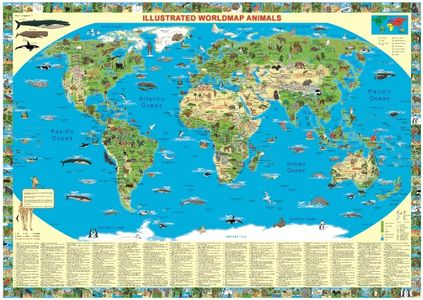 Animals of the World illustrated map