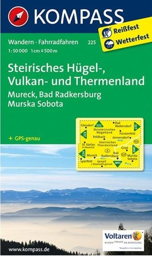 Kompass WK225 Steirisches Hügelland, Vulkanland, Thermenland