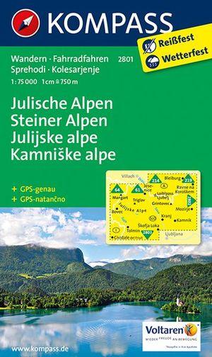 Kompass WK2801 Julische Alpen, Steiner Alpen