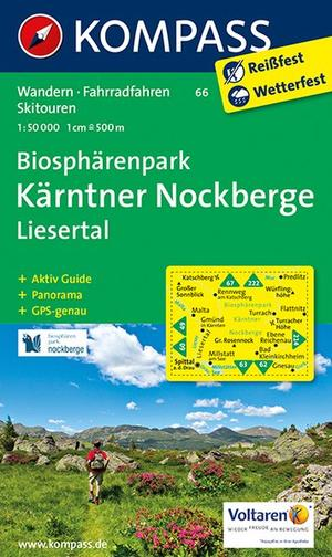 Kompass WK66 Biosphärenpark Kärnten Nockberge, Liesertal