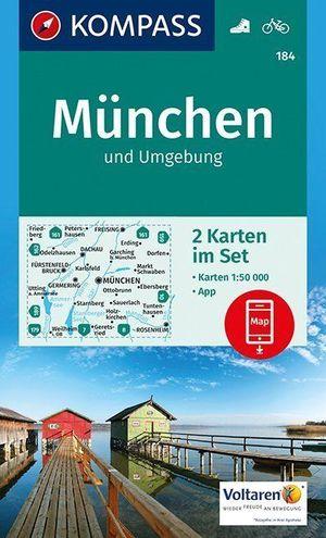 Kompass WK184 München Und Umgebung