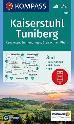 Kompass WK883 Kaiserstuhl, Tuniberg