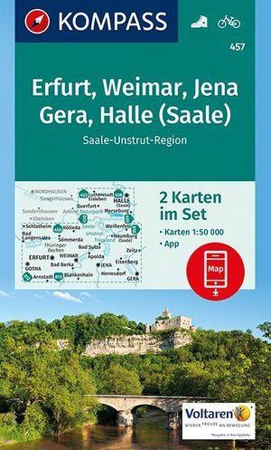 Kompass WK457 Erfurt, Weimar, Jena, Gera, Halle