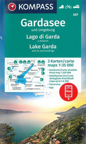 Kompass WK697 Gardameer, Gardasee und Umgebung