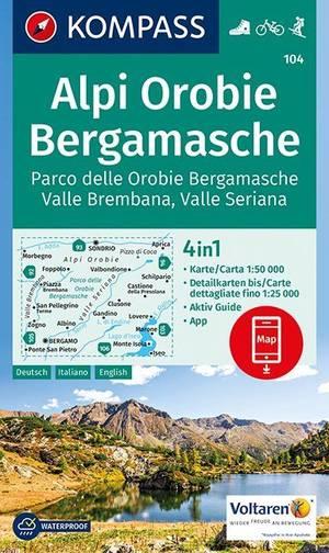 Kompass WK104 Alpi Orobie, Bergamasche