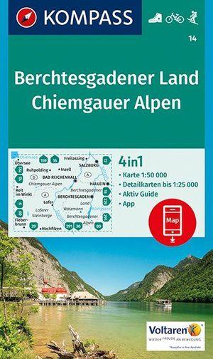 Kompass WK14 Berchtesgadener Land, Chiemgauer Alpen 1:50 000