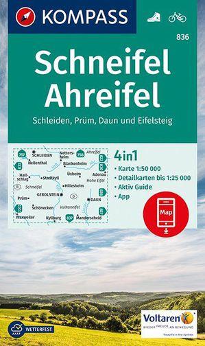 Kompass WK836 Schneifel, Ahreifel, Schleiden, Prüm, Daun