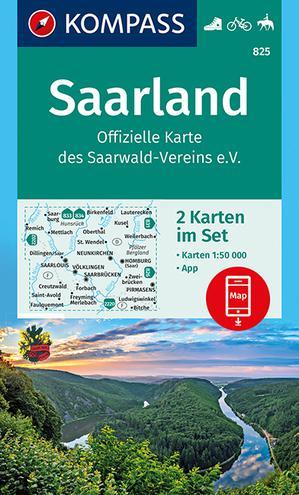 Kompass WK825 Saarland 1:50.000