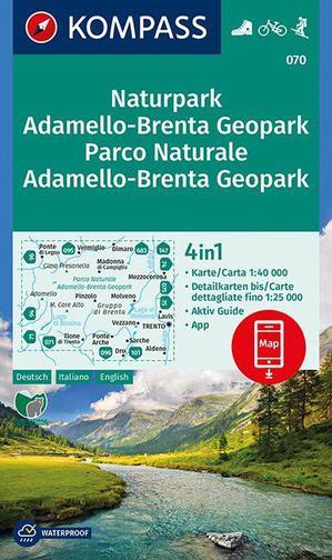 WK070 NP Adamello-Brenta Geopark, PN Adamello-Brenta Geopark 1:40 000