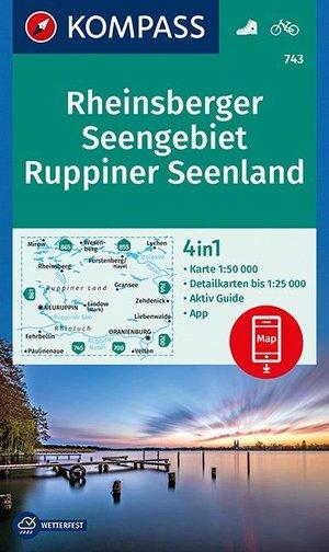 Kompass WK743 Rheinsberger Seengebiet, Ruppiner Seenland 1:50.000